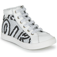 Scarpe Bambina Sneakers alte GBB MARTA Bianco / Argento