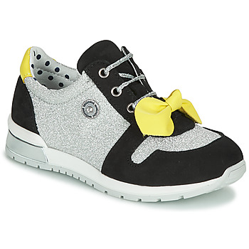 Scarpe Bambina Sneakers basse Catimini BANJO Argento / Nero