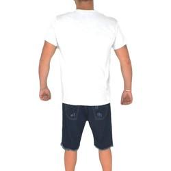 Abbigliamento Uomo T-shirt maniche corte Malu Shoes T- shirt basic uomo in cotone bianco slim fit girocollo con cuci BIANCA