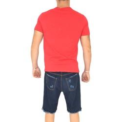 Abbigliamento Uomo T-shirt maniche corte Malu Shoes T- shirt basic uomo in cotone elastico rosso corallo slim fit gi ROSSO