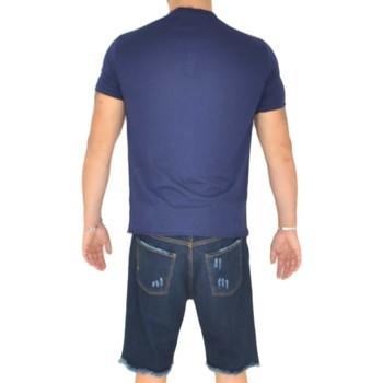 Abbigliamento Uomo T-shirt maniche corte Malu Shoes T- shirt basic uomo in cotone elastico blu avion slim fit giroco BLU