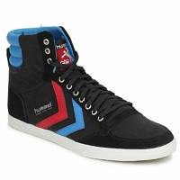 Scarpe Sneakers alte Hummel TEN STAR HIGH CANVAS Nero / Blu / Rosso