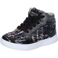 Scarpe Bambina Sneakers alte Enrico Coveri COVERI sneakers nero tessuto vernice BX822 Nero