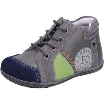 Scarpe Bambino Sneakers basse Enrico Coveri COVERI sneakers grigio camoscio pelle BX827 Grigio