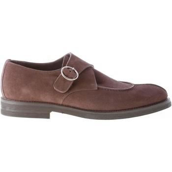 Scarpe Uomo Derby Migliore Uomo scarpa derby con fibbia in camoscio TESTA DI MORO marrone