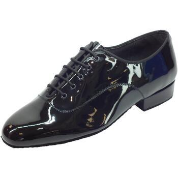 Scarpe Uomo Sandali sport Vitiello Dance Shoes Scarpa da uomo per ballo standard in vernice nero Vernice Nero