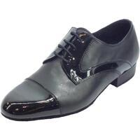 Scarpe Uomo Sandali sport Vitiello Dance Shoes Scarpa da uomo per ballo standard in nappa e verniciato colore n  pelle nappata colore nero su tutta la tomaia della scarpa e la