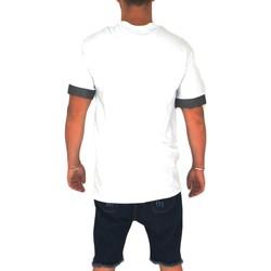 Abbigliamento Uomo T-shirt maniche corte Malu Shoes T- shirt basic uomo cotone bianco  modello over con inserti in BIANCO