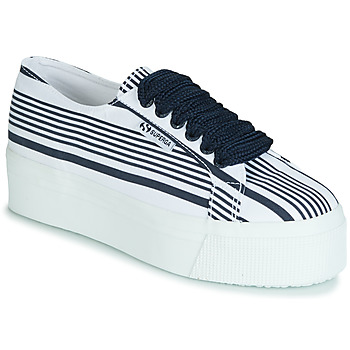 Scarpe Donna Sneakers basse Superga 2790 COT MULTI STRIPE W Bianco