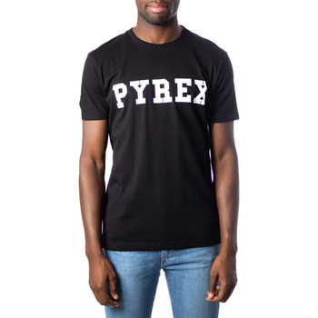 Abbigliamento Uomo T-shirt maniche corte Pyrex UOMO DONNA UNISEX T-SHIRT JERSEY 34200 REGULAR Nero