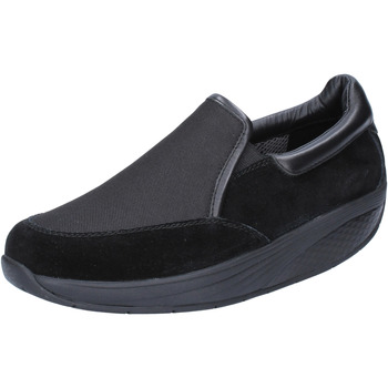 Scarpe Donna Slip on Mbt scarpe donna  slip on nero camoscio tessuto performance BT99 Nero