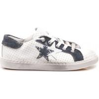 Scarpe Unisex bambino Sneakers basse 2 Stars 2-Star Sneakers Basse Bambini Pelle Bianco-Blu 2SB-1112 white, blu