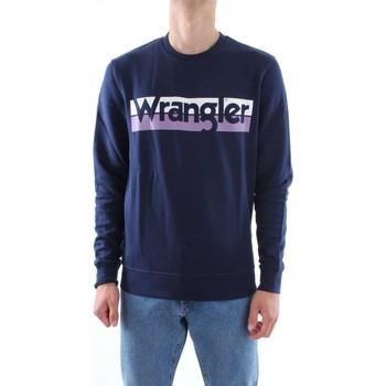Abbigliamento Uomo Felpe Wrangler W6532HY-LOGO-CREW W4-blu-navy
