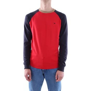 Abbigliamento Uomo T-shirts a maniche lunghe Wrangler w86152p-raglan-knit Wn-rosso