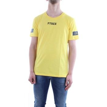 Abbigliamento Uomo T-shirt maniche corte Pyrex 18EPY33812-MAGLIA Giallo