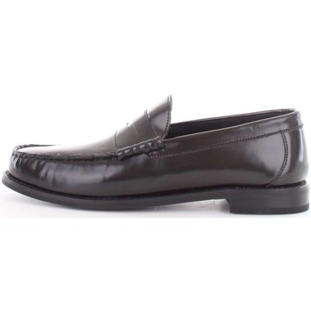Scarpe Uomo Scarpe da barca Base London sm01012-strike-hi-shine 012-nero