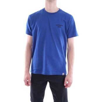 Abbigliamento Uomo T-shirt maniche corte Carhartt I024749-S-S-OFFICE-T-SHIRT 967-89-celeste