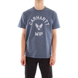 Abbigliamento Uomo T-shirt maniche corte Carhartt i024813-s-s-c-airborne-t-shirt 956-90-blu