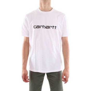 Abbigliamento Uomo T-shirt maniche corte Carhartt I023803-S-S-SCRIPT-T-SHIRT 02-90-bianco-nero