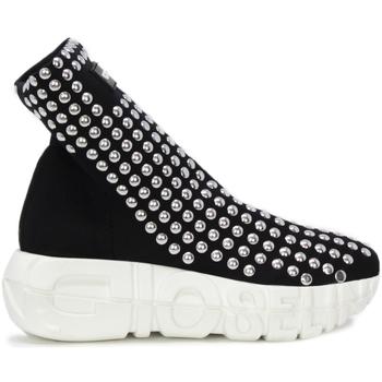 Scarpe Donna Sneakers alte Gioselin WAR STUDS Nero