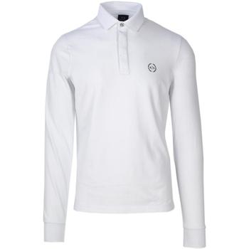 Abbigliamento Uomo Polo maniche lunghe Armani Exchange 8NZF79 ZJ81Z Bianco