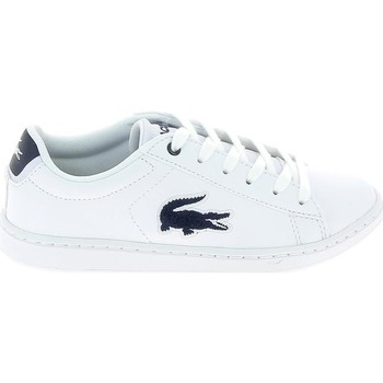 Scarpe Unisex bambino Sneakers basse Lacoste Carnaby Evo C Blanc Bleu Bianco