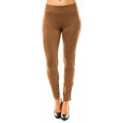 Abbigliamento Donna Leggings Sweet Company Pantalon Décontract Taupe Marrone
