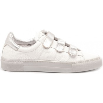 Scarpe Bambina Sneakers basse Ciao Sneakers Bambina Pelle Bianco-Argento 3752 bianco, argento