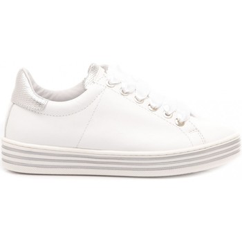 Scarpe Bambina Sneakers basse Ciao Sneakers Bambina Pelle Bianco-Argento 3732 bianco, argento