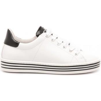 Scarpe Bambina Sneakers basse Ciao Sneakers Bambina Pelle Bianco-Nero 3732 bianco, nero