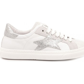 Scarpe Bambina Sneakers basse Ciao Sneakers Bambina Pelle Bianco-Argento 3744 bianco, argento