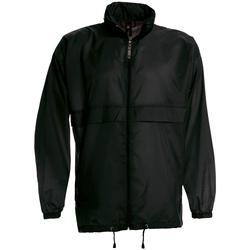 Abbigliamento Uomo giacca a vento B And C JU800 Nero