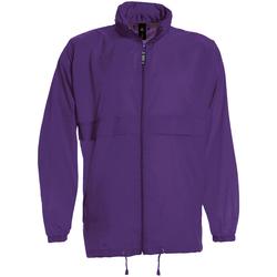 Abbigliamento Uomo giacca a vento B And C JU800 Viola