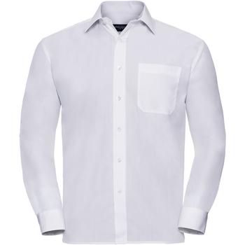 Abbigliamento Uomo Camicie maniche lunghe Russell 934M Bianco