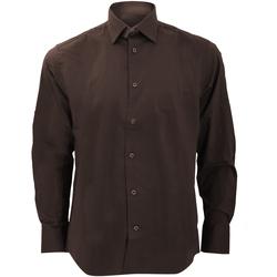 Abbigliamento Uomo Camicie maniche lunghe Russell 946M Cioccolato