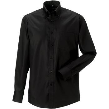 Abbigliamento Uomo Camicie maniche lunghe Russell 956M Nero