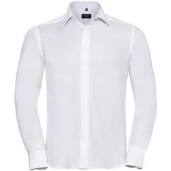 Abbigliamento Uomo Camicie maniche lunghe Russell 956M Bianco