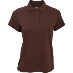 Abbigliamento Donna Polo maniche corte B And C PW455 Marrone