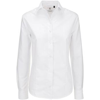 Abbigliamento Donna Camicie B And C SWO03 Bianco