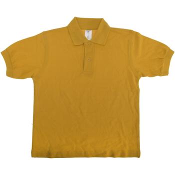 Abbigliamento Unisex bambino Polo maniche corte B And C PK486 Oro