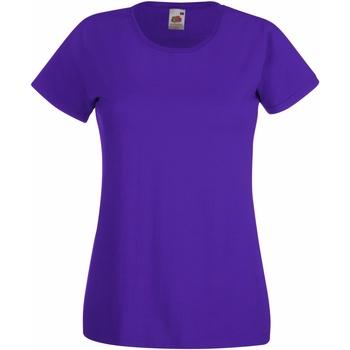 Abbigliamento Donna T-shirt maniche corte Fruit Of The Loom 61372 Viola