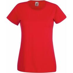 Abbigliamento Donna T-shirt maniche corte Fruit Of The Loom 61372 Rosso