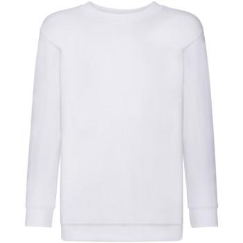 Abbigliamento Unisex bambino Felpe Fruit Of The Loom 62041 Bianco