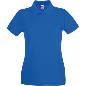 Abbigliamento Donna Polo maniche corte Fruit Of The Loom 63030 Blu reale