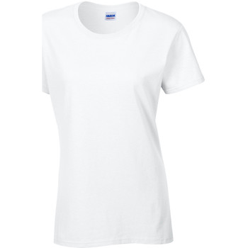 Abbigliamento Donna T-shirt maniche corte Gildan Missy Fit Bianco