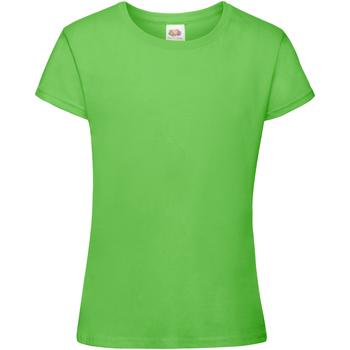 Abbigliamento Bambina T-shirt maniche corte Fruit Of The Loom 61017 Verde lime