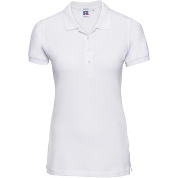 Abbigliamento Donna Polo maniche corte Russell 566F Bianco