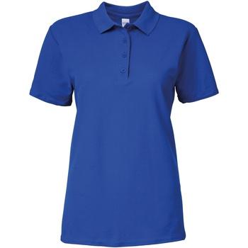 Abbigliamento Donna Polo maniche corte Gildan 64800L Blu reale