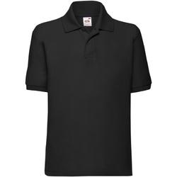 Abbigliamento Unisex bambino Polo maniche corte Fruit Of The Loom 63417 Nero
