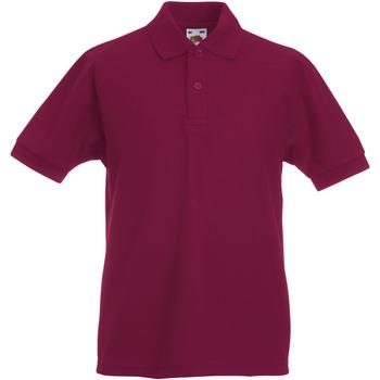 Abbigliamento Unisex bambino Polo maniche corte Fruit Of The Loom 63417 Bordeaux